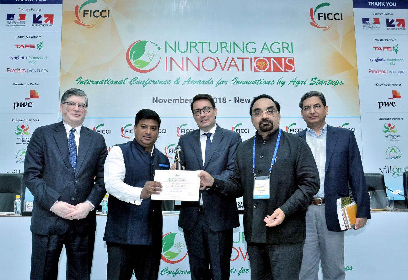 Miklens Bio Pvt. Ltd. has been awarded the FICCI Business Excellence Award for Agri Startups 2018 in the category